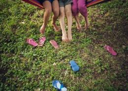 Enjoy outdoor time together with friends - Hidden River Townhomes, Apartments near Juanita Bay, Kirkland, Washington 98034