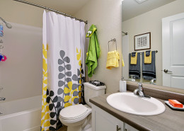Full bathroom - Hidden River Townhomes, Apartments near Juanita Bay, Kirkland, Washington 98034