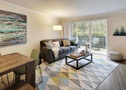 Living and Dining Room Interior - Hidden River Townhomes, Apartments near Juanita Bay, Kirkland, Washington 98034