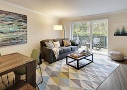 Living and Dining Room Interior - Hidden River Townhomes, Apartments near Juanita Bay, Kirkland, Washington 98034