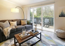 Living Room Interior - Hidden River Townhomes, Apartments near Juanita Bay, Kirkland, Washington 98034