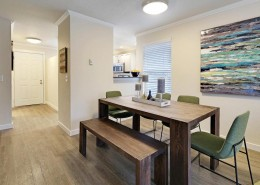 Dining Room Interior - Hidden River Townhomes, Apartments near Juanita Bay, Kirkland, Washington 98034