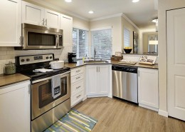 Modern Kitchen with Stainless Steel Appliances - Hidden River Townhomes, Apartments near Juanita Bay, Kirkland, Washington 98034