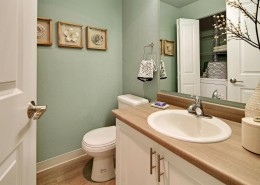 Bathroom with Washer and Dryer - Hidden River Townhomes, Apartments near Juanita Bay, Kirkland, Washington 98034