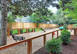 All new dog park for your furry family members. Hidden River Townhomes, Apartments near Juanita Bay, Kirkland, Washington 98034