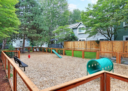 All new dog park for your furry family members. Hidden River Townhomes, Apartments near Juanita Bay, Kirkland, Washington 98034
