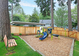 All new tot lot playground. Hidden River Townhomes, Apartments near Juanita Bay, Kirkland, Washington 98034
